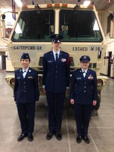 The three Waukesha cadets accepted into summer seminars.
