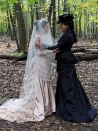 Wedding picture of two women, by Deborah