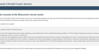 Wisconsin Circuit Court Access (WCCA)