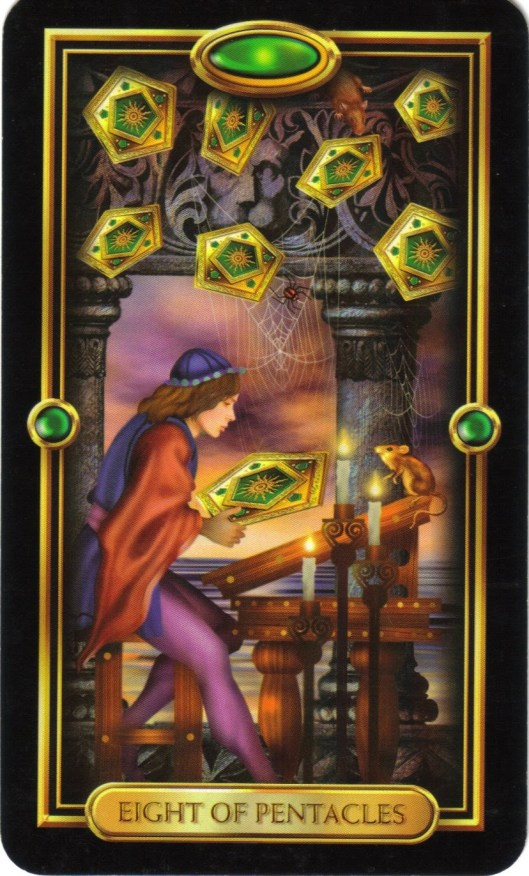Eight of Pentacles Gilded