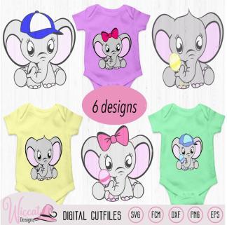 Elephant bundle, neutral, boy, girl svg
