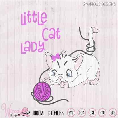 Little cat lady svg, girl cat, SVG, dxf, png file