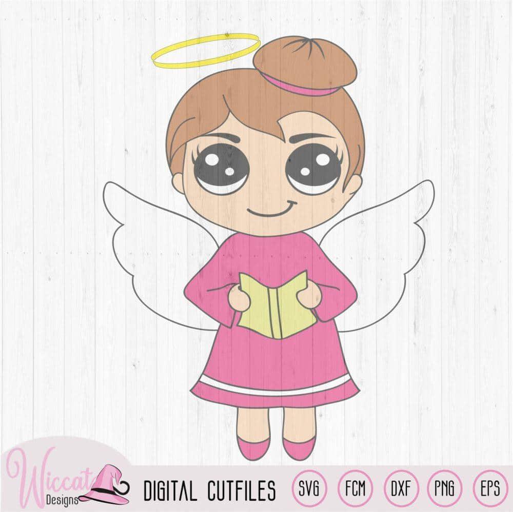 Singing Christmas Angel Kawaii Angel Wiccat Designs