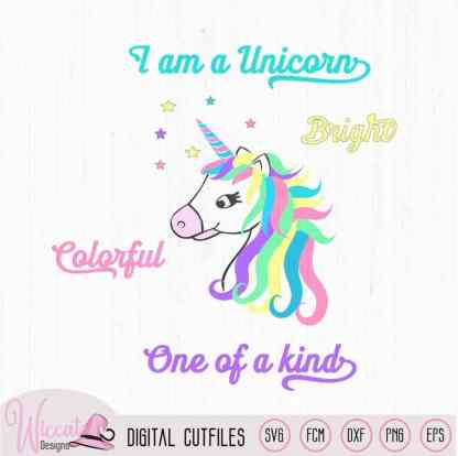 Unicorn bundle, 4 unicorn files SVG, dxf, png file