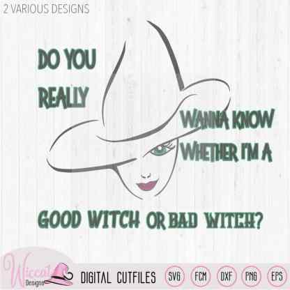 Bad Witch or Good witch, Halloween svg