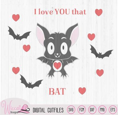 Valentine cute Bat
