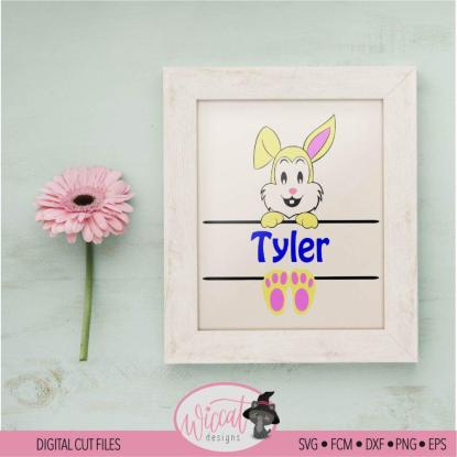 Easter bunny name banner for boys and girls