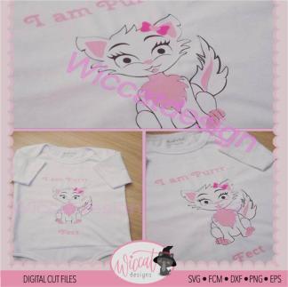 Girly pink Cat svg, cat for toddler svg,