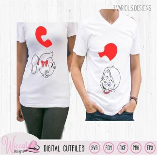 Valentine couple shirt design