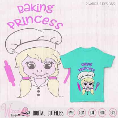 Kids Baking princess, Baker girl