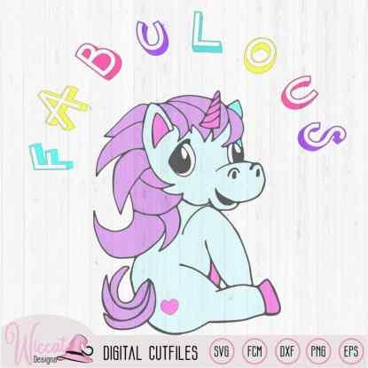 Fabulous Unicorn svg, Rainbow unicorn