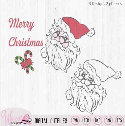 Santa claus, Father christmas svg,