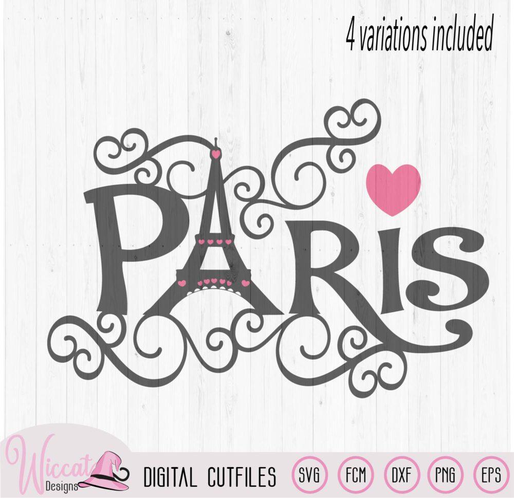 Download Paris Eiffel Tower word art, City of love svg, - Wiccat ...