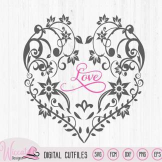 Flower heart, Valentine, Mothersday gift