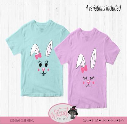 Bunny girl face svg, Line art Bunny ears