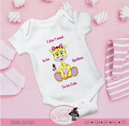 Baby girl Giraffe, zoo animal, baby design