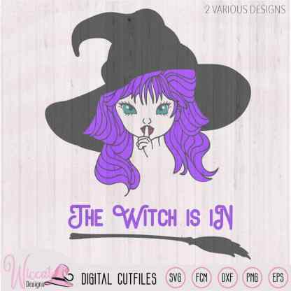 Cute little Witch with a big witch hat, Wicked quote svg, Halloween girl, svg files, scanncut, die cut halloween, iron on, vinyl cut file