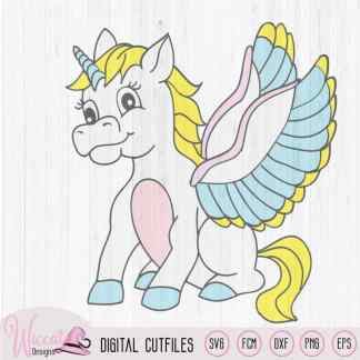Unicorn with wings svg, FCM, SVG, dxf, png file