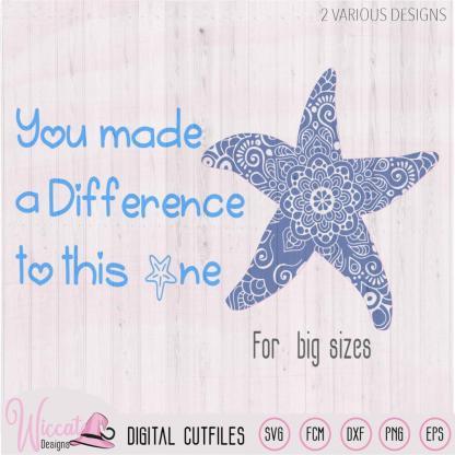 Starfish mandala svg, You made a difference