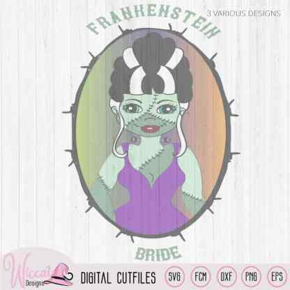 Bride of frankenstein, girl Halloween svg, Gothic svg, T shirt svg, line art, fcm files, die cut, cricut svg, vinyl craft, Scanncut fcm