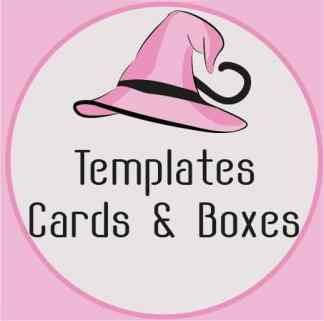 Templates cards and boxes