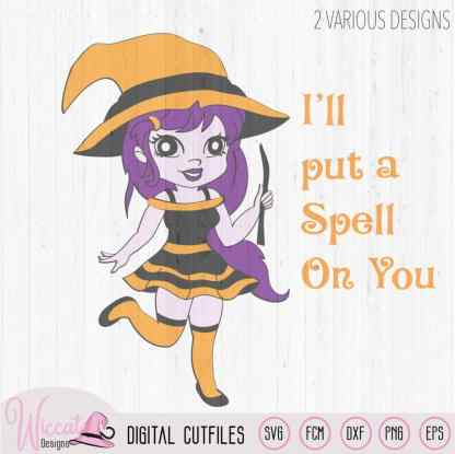 Cute Halloween witch, I'll put a spell on you