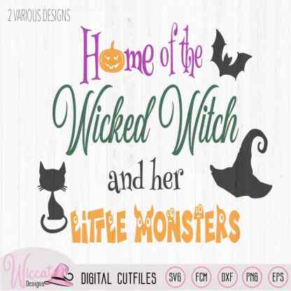 Home of the wicked witch quote, halloween sign