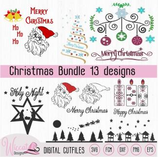 Christmas bundle, Christmas ornament, santa,