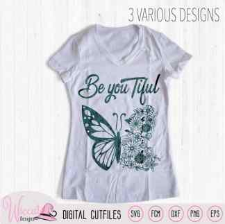 Flower butterfly design, Beautiful quote