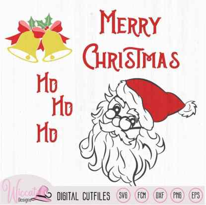 Christmas bundle, Christmas ornament, santa,