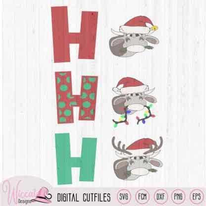 Ho Ho Ho Christmas Heifer cut file