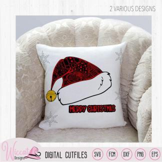 Santa doodle hat, christmas hat,
