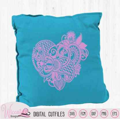 Valentine Paisley Heart,  zentangle Heart,