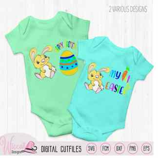 Baby Easter bunny boy, My first Easter, Happy easter, Tumbler svg, Vinyl craft, cricut svg, Scanncut fcm, baby suit, plotter file,