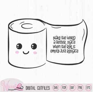 Kawaii toilet paper with rhime, Cute bathroom rules,
