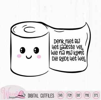 Kawaii toilet paper, wc sticker, toilet regels,