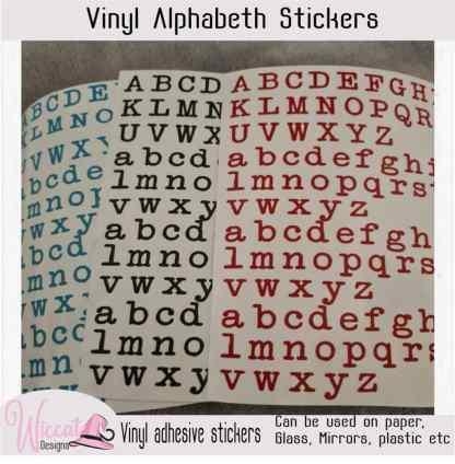 old typwriter letter stickers