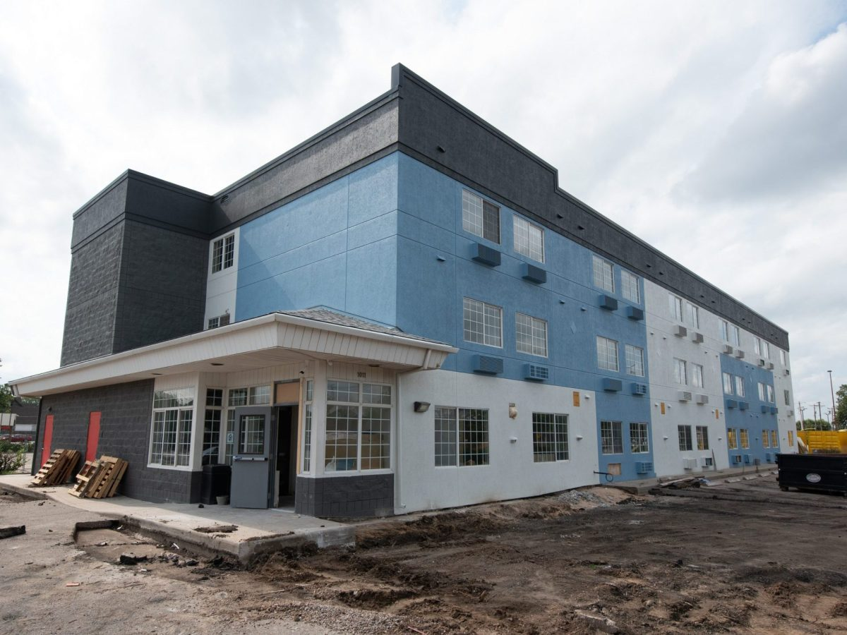 One example of how the city can invest in affordable housing is the $4 million it spent to turn the 316 Hotel into a complex for people experiencing homelessness. (Alex Unruh/The Wichita Beacon)