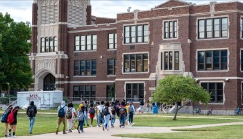 Students, including those at Wichita East High School, are finishing the first few weeks of their second year of pandemic learning.