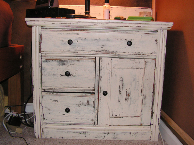 How To Distress Cabinets With Chalk Paint