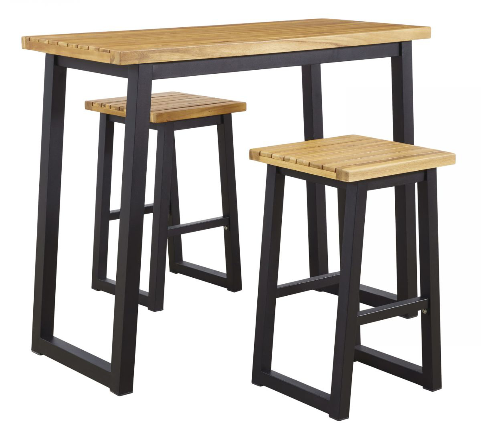 town wood patio pub table 2 stools