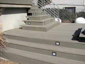 Evergrain lower deck & stair lights