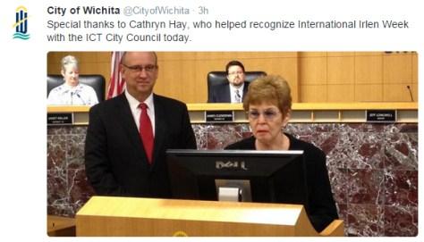 City of Wichita tweet Irlen 2015-10-13