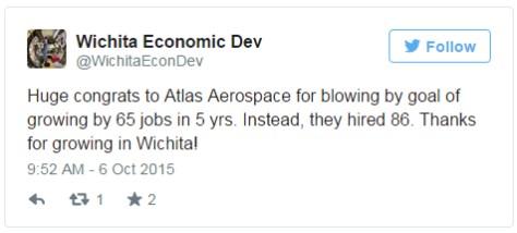 Tweet from Wichita city officials
