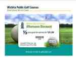 Wichita Public Golf Courses weekday afternoon green fees