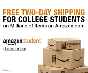 Free Amazon Student subscription for six months