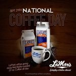 Free coffee at participating Lamars Donuts for National Coffee Day