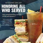 Honoring all who served with free meal at McAlister's Deli