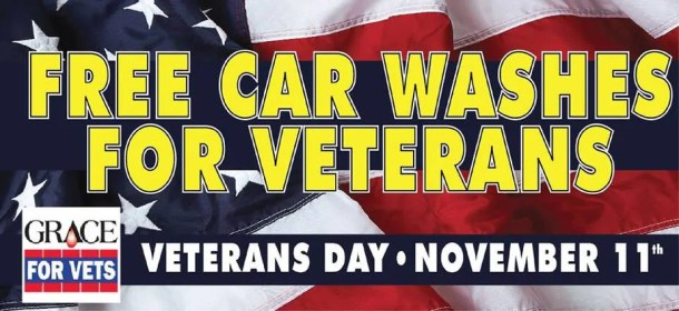 Free car washes for veterans from Grace for Vets and local car wash businesses