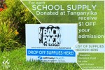 Tanganyika Wildlife Park school supply donation discount